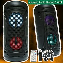 """Portable 4"""" Bluetooth DJ Speaker 400W PA Loudspeaker Wireles"""