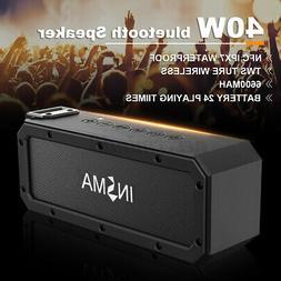 40W bluetooth Speaker W/ NFC Wireless Portable Waterproof Su