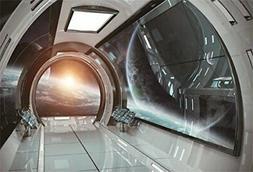 AOFOTO 7x5ft 3D Spaceship Interior Background Futuristic Sci