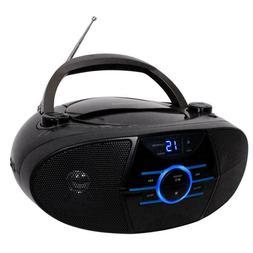 Bluetooth Jensen Portable Stereo Boombox CD Player AM/FM Rad