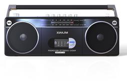 Bluetooth Portable Cassette Player Recorder Boombox AM/FM Ra