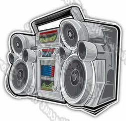 Boom Box Audio Player CD Cassette Cartoon Car Bumper Vinyl S
