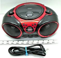 JENSEN BOOMBOX ELECTRIC OR BATTERY - CD AM/FM - TESTED - WOR