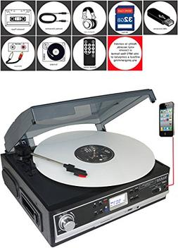 Boytone BT-16DJB-C 3-speed Stereo Turntable with 2 Built in