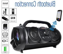 Boytone BT-18BK Portable Bluetooth Boombox Speaker, Indoor/O