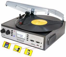 BOYTONE BT-19DJS-C 3-speed Record Player Turntable Built in