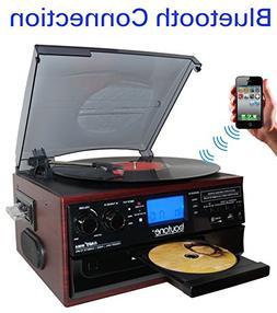Boytone BT-22C, Bluetooth Record Player Turntable, AM/FM Rad
