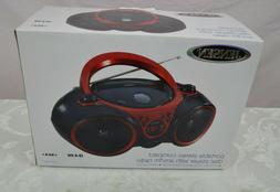 Jensen Cd490 Black/Red Portable Stereo Cd Player Am FM CD-R/