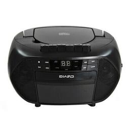 Craig CD6951 CD Boombox with AM/FM Stereo Radio and Cassette