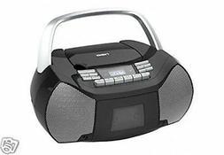 NAXA Electronics NPB-268 Portable CD/Cassette Boombox with A