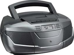 GPX, Inc. BCA206S Portable AM/FM Boombox with CD and Cassett