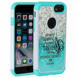 SKYFREE iPhone 7 Case,iPhone 8 Case Christian Quotes, Bible