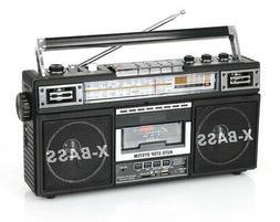 QFX J-22U Boom Box Retro Four-Band Radio & Cassette to MP3 C