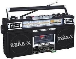 QFX J22U Retro Mini Boombox AM FM SW 4 Band Radio Cassette R
