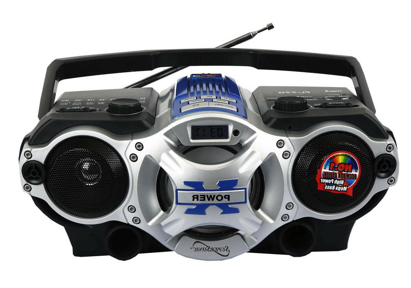 bluetooth portable boombox am fm radio mp3