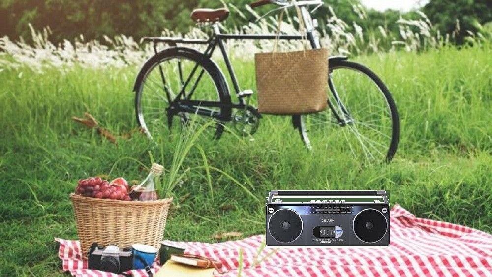 Bluetooth Cassette Player Recorder Boombox AM/FM USB/SD Gray