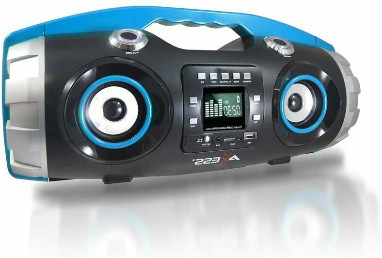 BLUETOOTH PORTABLE STEREO BOOMBOX CD MP3 PLAYER REMOTE SUBWO