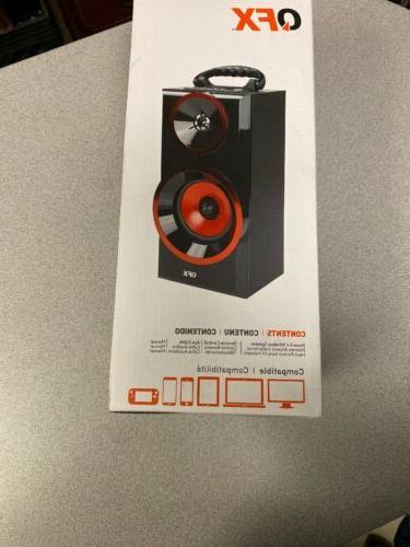 QFX BT-168 Multimedia Boom Radio,
