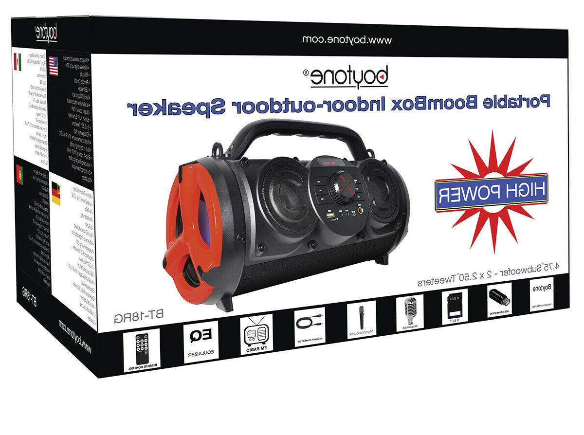 Boytone Portable Boombox Speaker, Hi-Fi