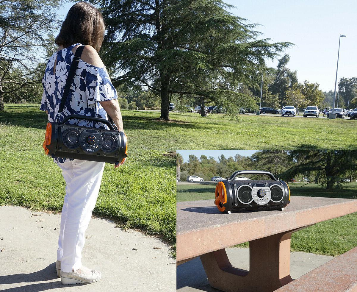 Boytone Boombox Speaker, Indoor/Outdoor Hi-Fi