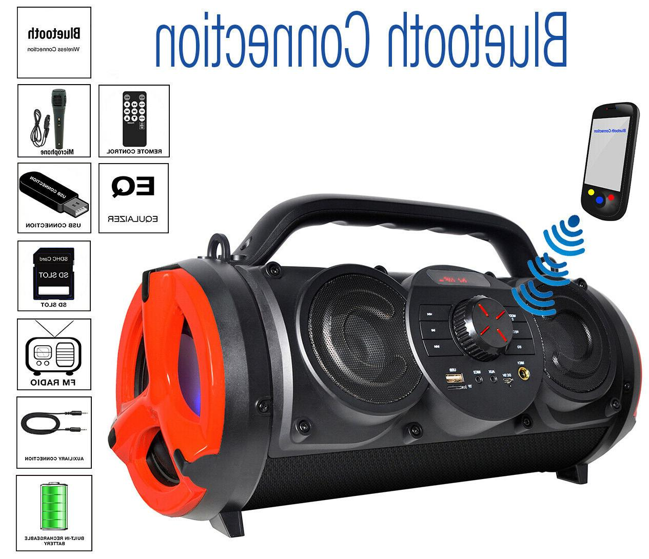 bt 18rg portable bluetooth boombox speaker indoor