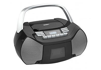 NAXA Electronics NPB-268 Portable CD/Cassette Boombox Silver
