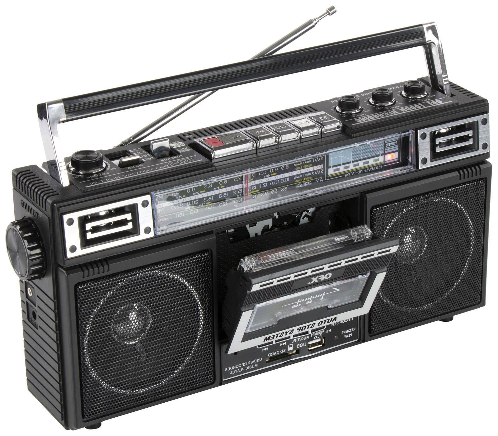 QFX J-220BT Bluetooth Cassette Converter Boombox