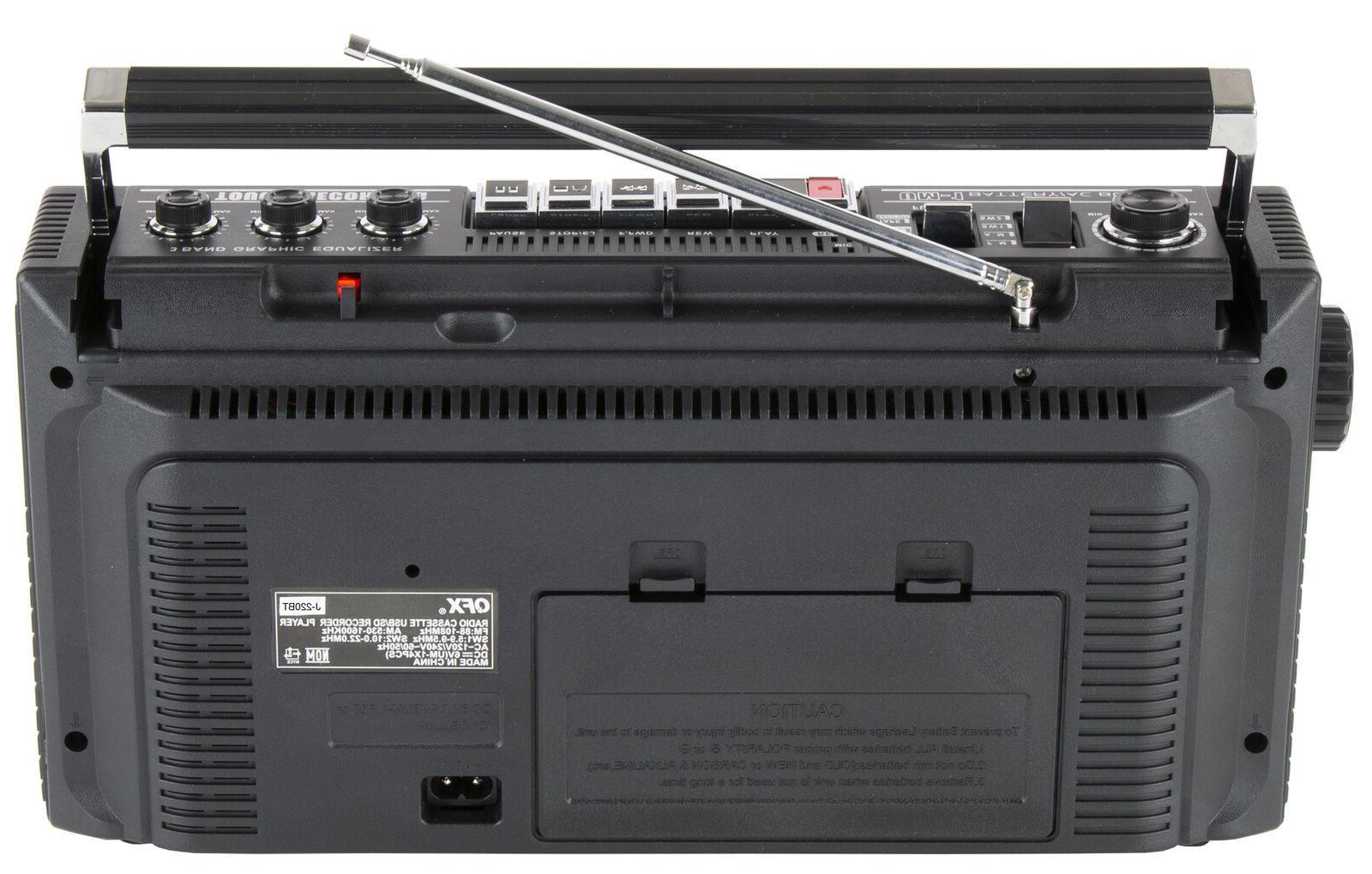 QFX Cassette Boombox