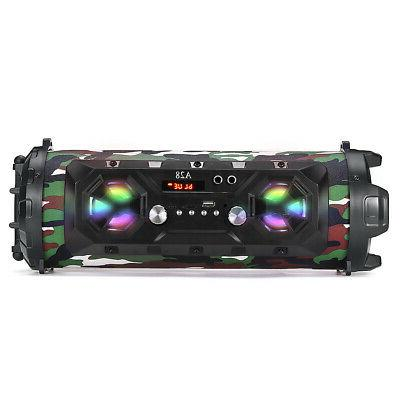 LED Bass Wireless Boombox Stereo Card