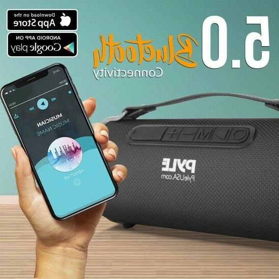 Pyle Rechargeable Wireless Boombox Speake