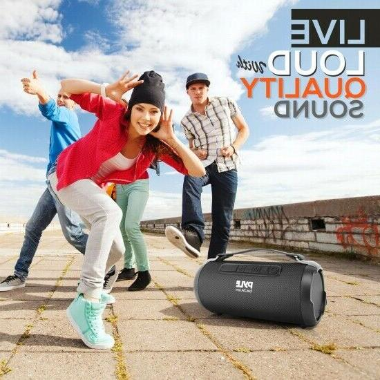 Pyle PBMSPG1BK 200 Rechargeable Wireless Bluetooth Boombox
