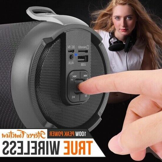 Pyle Wireless & Portable BoomBox Speaker System W/FM