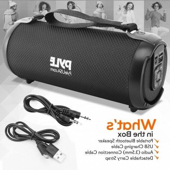 Pyle PBMSPG3BK Wireless & Portable BoomBox Speaker System W/FM