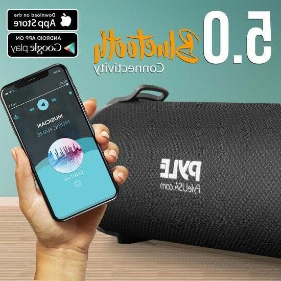 Pyle Portable Bluetooth Speaker System Radio