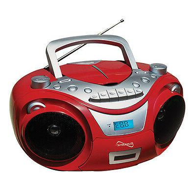 PORT MP3/CD PLYR RED
