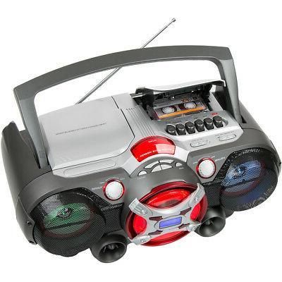 QFX J-50U Portable Bluetooth Cassette - Silver