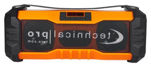 Technical Pro Portable Rechargeable Waterproof USB/FM