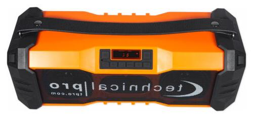 Technical Pro Portable Waterproof Bluetooth Speaker USB/FM
