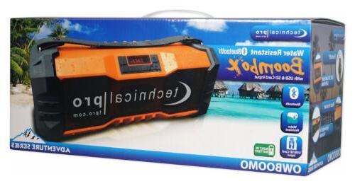 Technical Pro Portable Waterproof Bluetooth USB/FM
