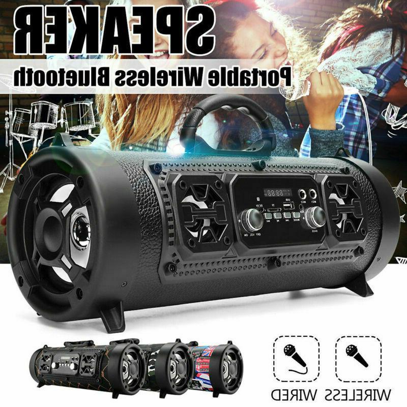 Portable Wireless Bluetooth Speaker Boombox Bass Stereo Cyli