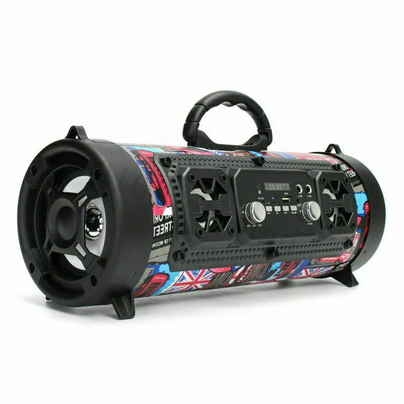 Portable Boombox Cylinder SD AUX