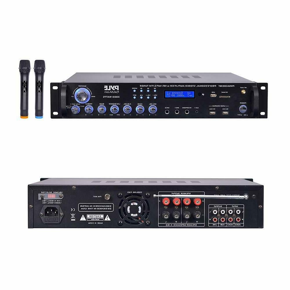 pwma3003bt bluetooth hybrid amplifier receiver 3000 watt