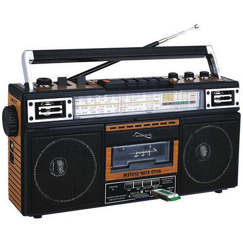 sc 3201bt bk retro 4 band radio