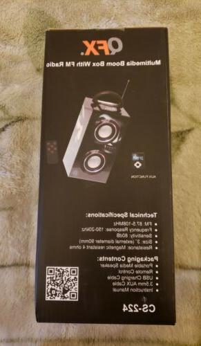 QFX Speaker Boom Radio USB Port
