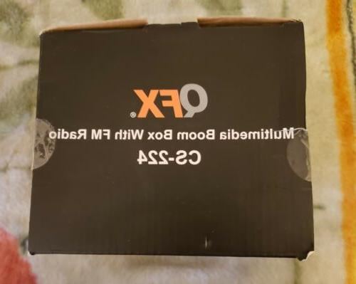 QFX Speaker CS-224 Boom FM Radio USB