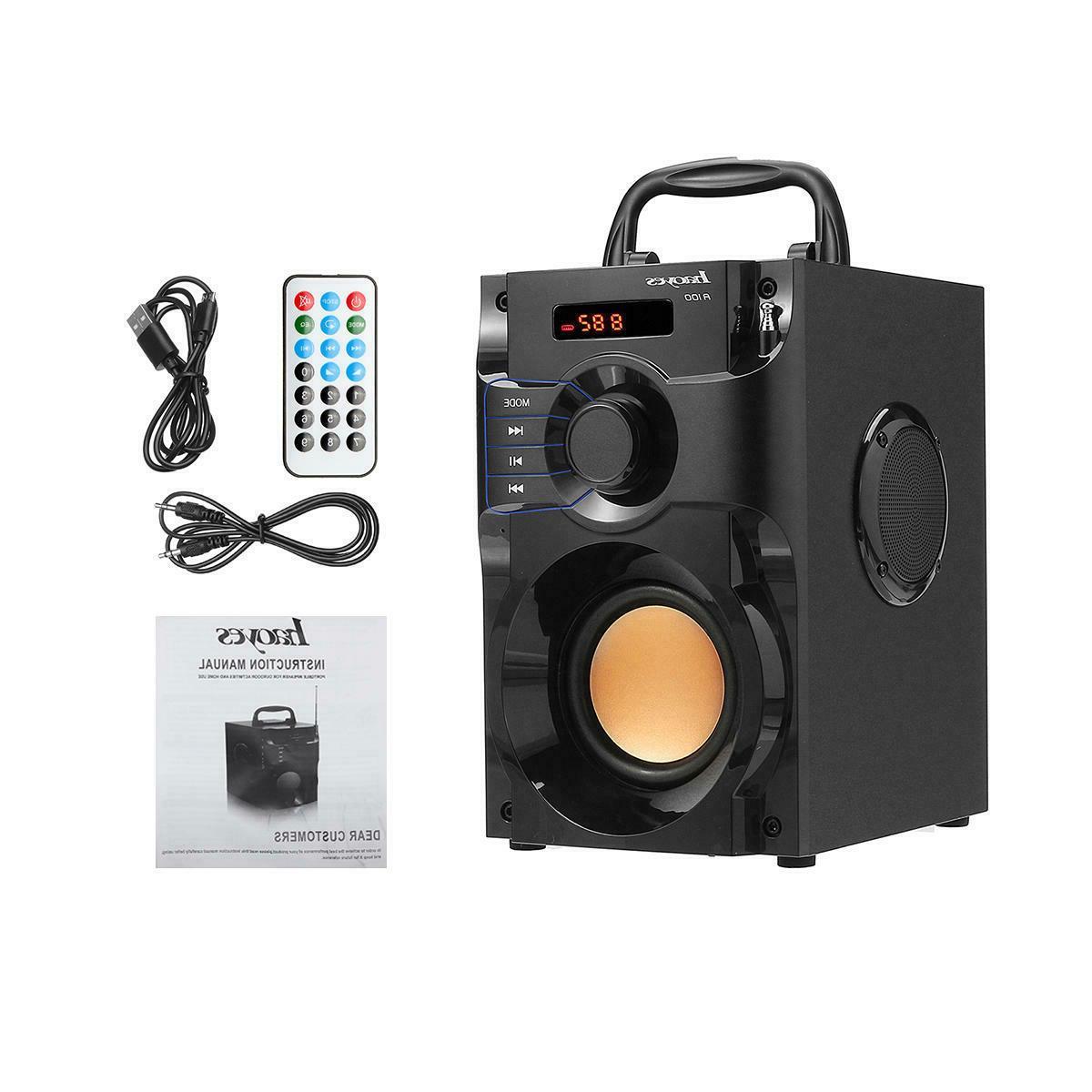 Wireless Bass Boombox Sound Support
