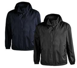 Men's Lightweight Rain Water Resistant Hooded Zip Up Windbre