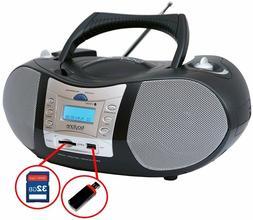 New Boytone Portable Stereo Boombox CD Player FM Radio USB/S