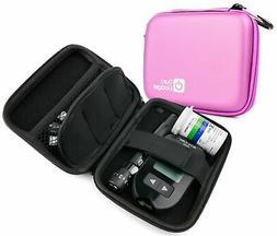 DURAGADGET Pink Rigid Insulin Diabetes Medical Supplies Shel