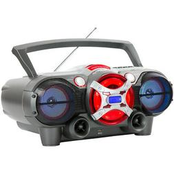 QFX J-50U Portable Jumbo Bluetooth Boombox Radio with Casset